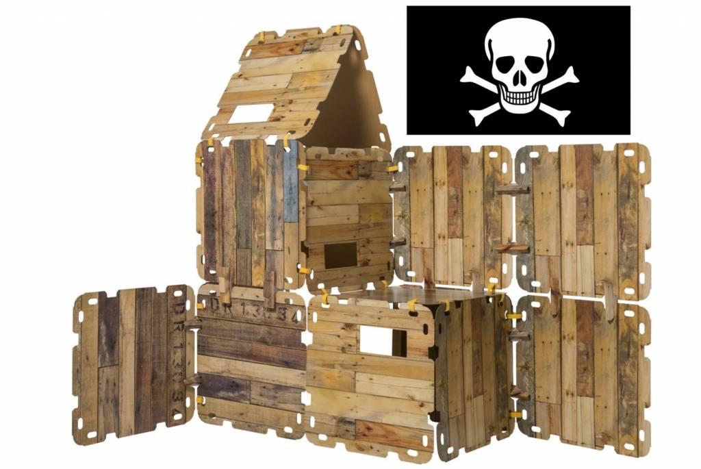 Hutten bouwpakket 'Piraten Editie' (47-delig) Fantasy Forts