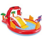 Intex Opblaasbaar speelzwembad - Happy Dino - met glijbaan - 259x165x107cm