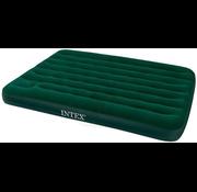 Intex 2-Persoons Queen Prestige Downy camping luchtbed - met batterijpomp - 203x152x22cm
