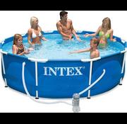 Intex Metal frame zwembad met filterpomp (Ø:305cm - 76cm hoog)