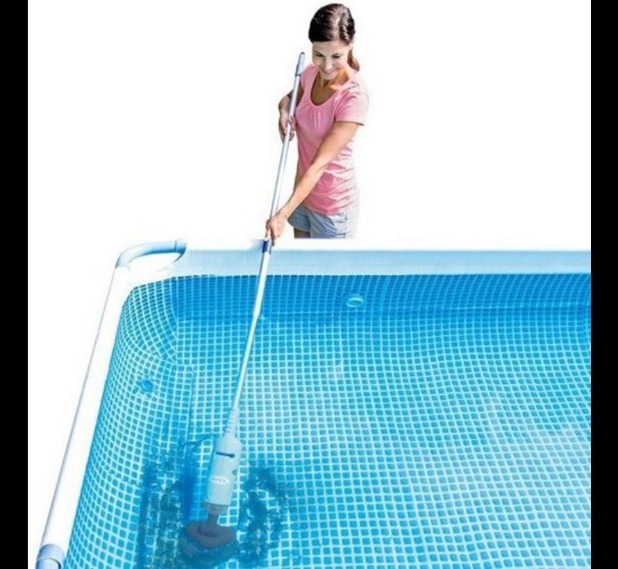 PureSpa - oplaadbare spa/zwembad handstofzuiger - uitschuifbare steel max. 2,39 Meter
