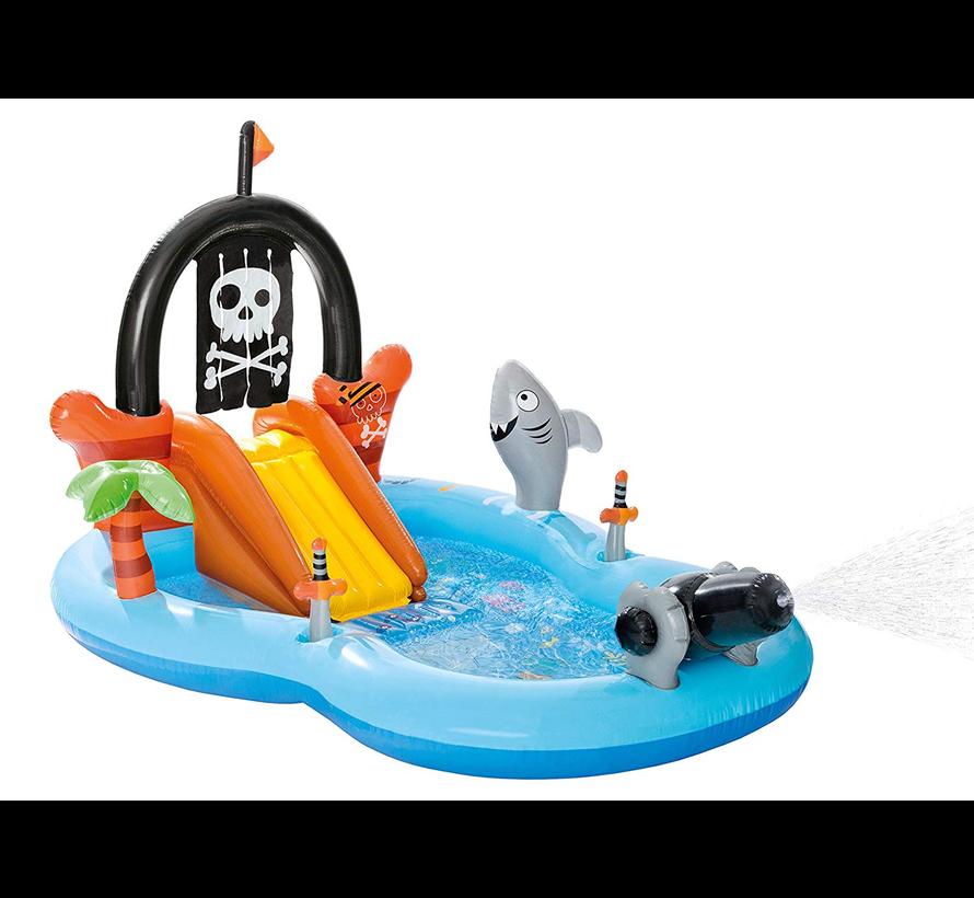 Piraat - opblaasbaar speelzwembad - 246cm lang x 193cm breed x 150cm hoog