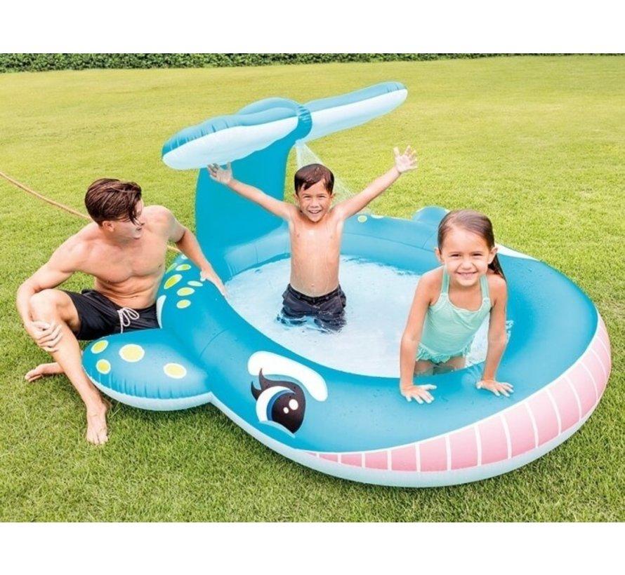 Peuter zwembad 'sproeiende walvis'