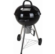 BBQ Collection Houtskool barbecue - rond - zwart - met thermometer - Ø57cm x 100cm