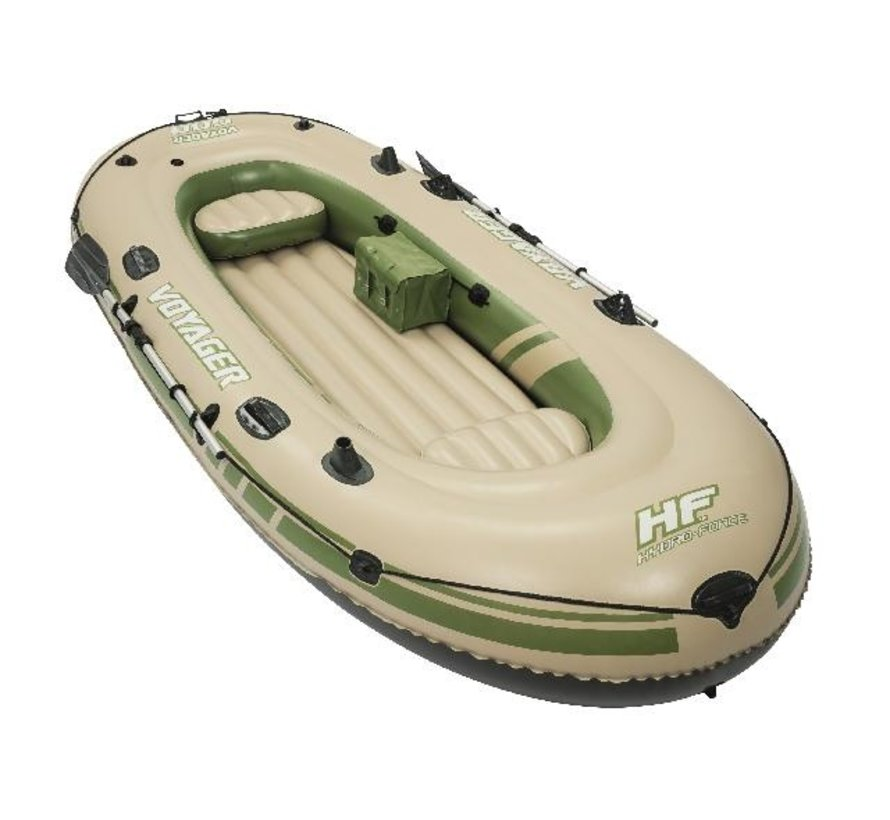 3-Persoons opblaasbare raft boot set - Voyager 500 - 348cm lang x 141cm breed