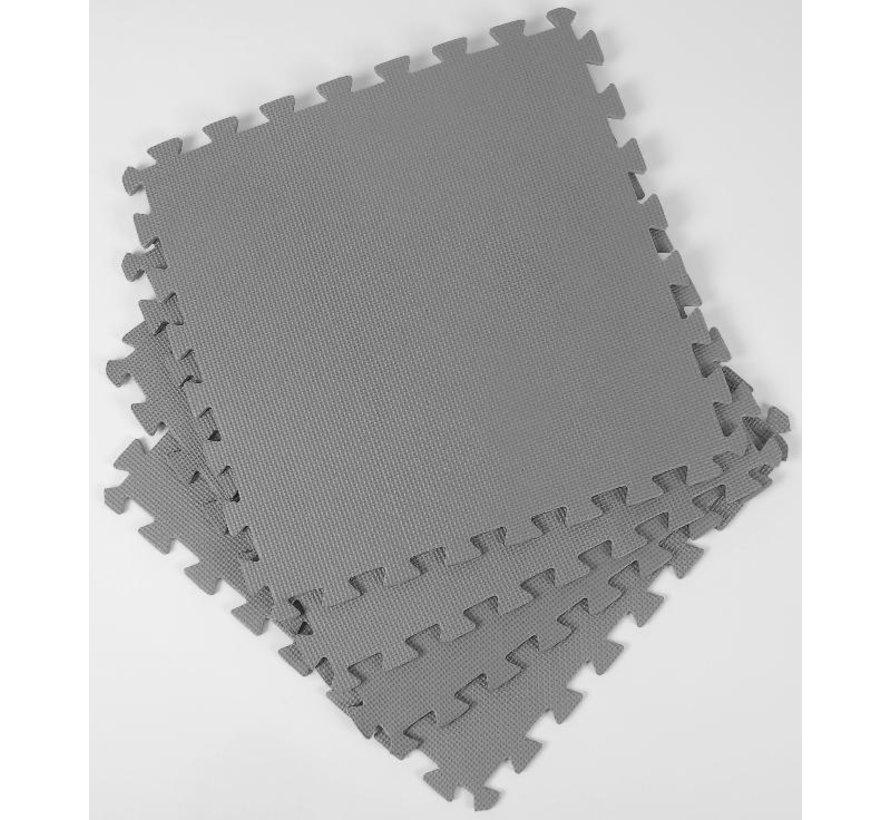Zwembad ondergrond / looppad tegels - 50cmx50cm - grijs - 8 stuks