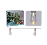 Party Lighting Feestverlichting met 20 transparante LED lampen - warm wit