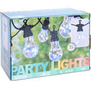 Party Lighting Feestverlichting - 10 lampen - 80 LED - multi color - 7,5M