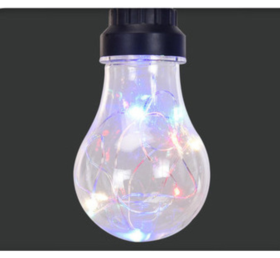 Feestverlichting - 10 lampen - 80 LED - multi color - 7,5M