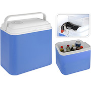 Excellent Cool Solutions Draagbare koelbox - blauw/wit - 12V - 24 Liter - 39x23x40cm