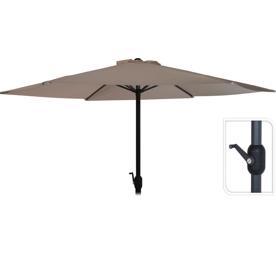 Deluxe parasol - Ø300cm - taupe