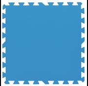 Bestway Zwembad ondergrond / looppad tegels - 50cmx50cm - blauw - 8 stuks