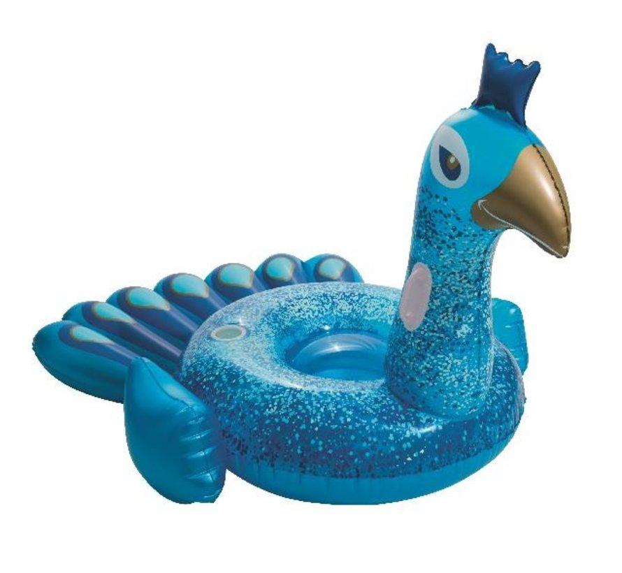 Floatin' Fashion - Pretty Peacock - opblaasbare MEGA pauw - 198cm lang x 164cm breed