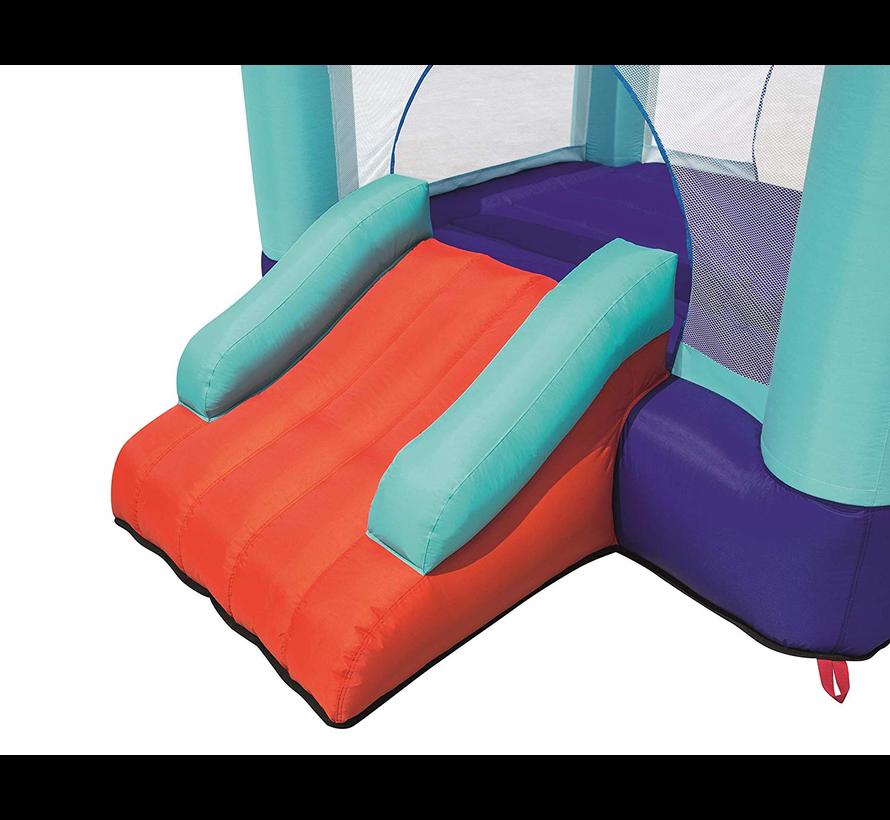 Up in & Over™ Spring n' Slide Bounce Park - Opblaasbaar springkussen met glijbaan - 200cm breed x 245cm lang x 145cm hoog