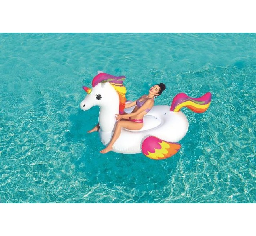 Floatin' Fashion - opblaasbare MEGA Unicorn - 224cm x 164cm