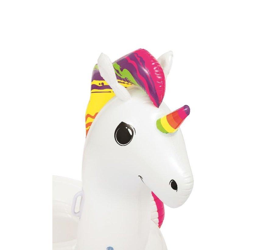 Opblaasbare unicorn - 150cm lang x 117cm breed x 95cm hoog