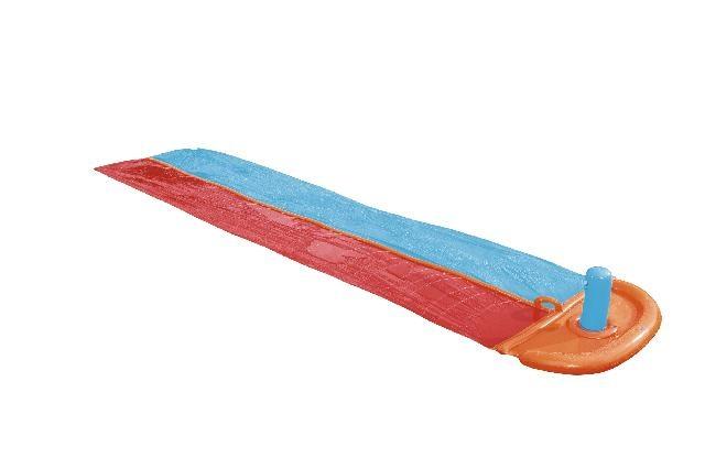 H2OGO! Double Slider waterglijbaan - met sproeier - 549cm lang x 136cm breed Bes