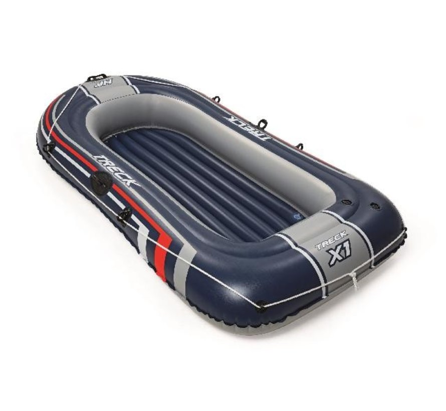 2-Persoons opblaasbare raft boot set - Hydro-Force Treck X1 - 228cm lang x 121cm breed x 36cm hoog