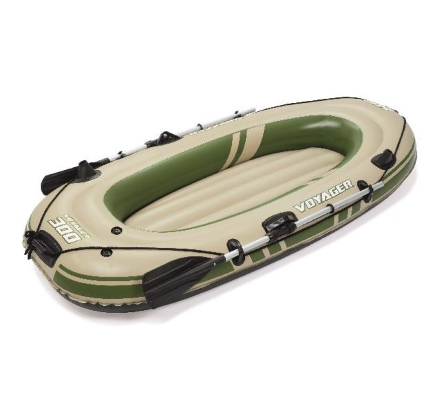 2-Persoons opblaasbare raft boot set - Hydro-Force Voyager 300 - 243cm lang x 102cm breed x 31cm hoog