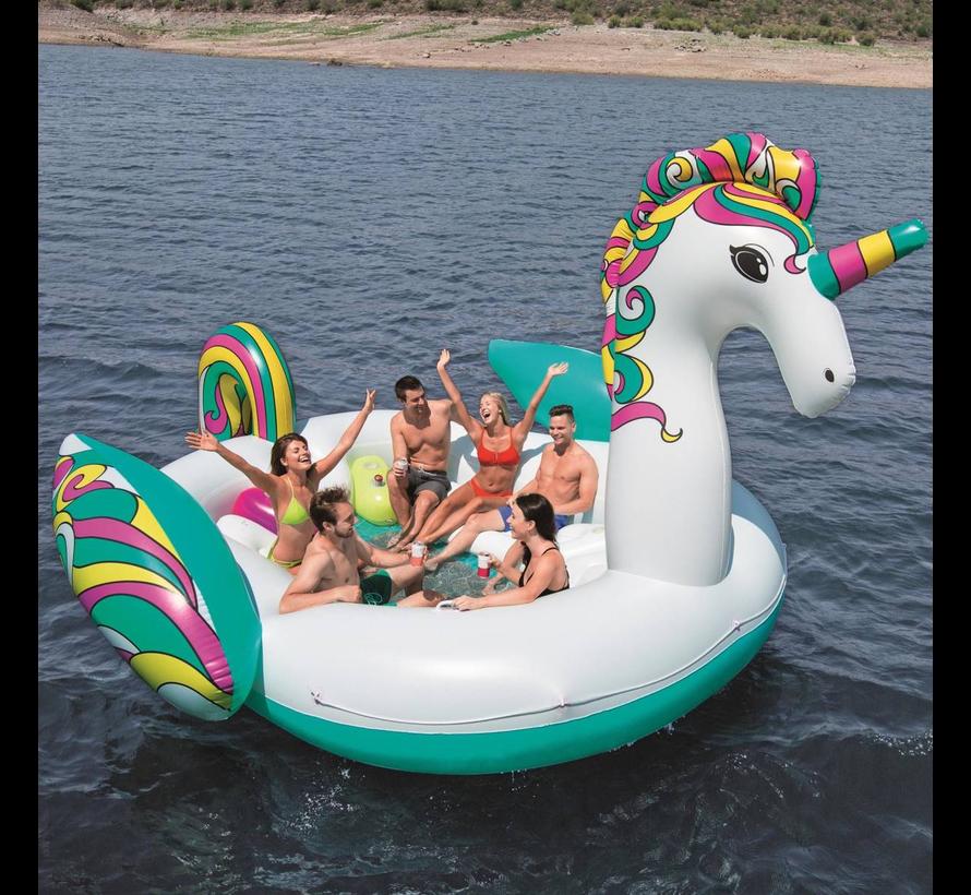 Floatin' Fashion - opblaasbare SUPERSIZED Unicorn - 590cm lang x 404cm breed
