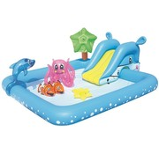 Bestway Opblaasbaar speelzwembad - Fantastic Aquarium - met glijbaan - 239x206x86cm
