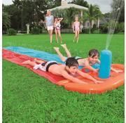 Bestway H2OGO! Double Slider waterglijbaan - met sproeier - 549x136cm