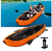 Hydro Force 2-Persoons opblaasbare kajak - Ventura - oranje/zwart - 330x94x48cm