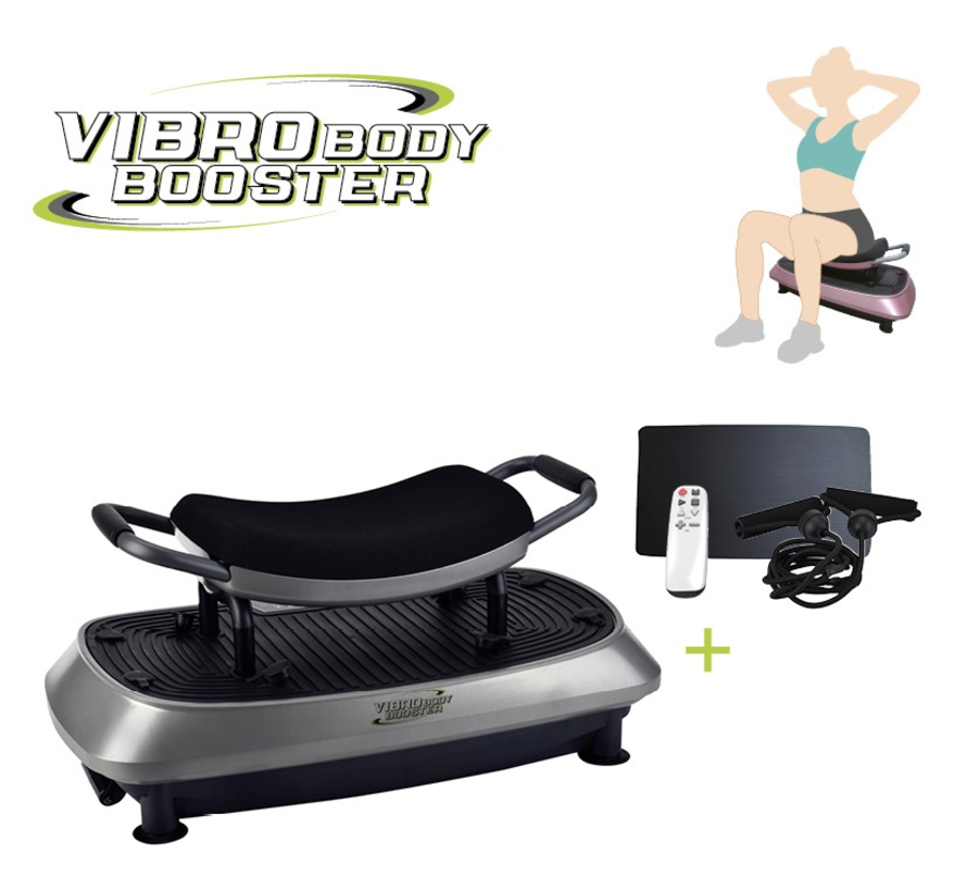 Vibro Body Booster 3-in-1 trilplaat - met zitje - full body trainer - trainingsstoel