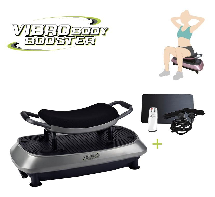 Vibro Body Booster 3-in-1 trilplaat - met zitje - full body trainer - trainingsstoel