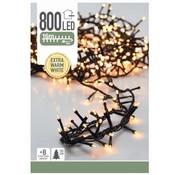 Huismerk Kerstverlichting - 800 LED - extra warm wit - 8 standen - 19 Meter