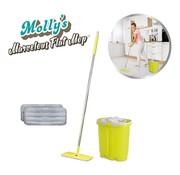 Molly's MarvelousFlat Mop - Was en droog systeem 2 dweildoeken (Bekend van TV)
