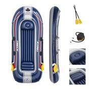 Bestway 3+1 Persoons opblaasbare raft boot - Hydro-Force - Treck X3 set - met peddels en pomp - 307x126x39cm