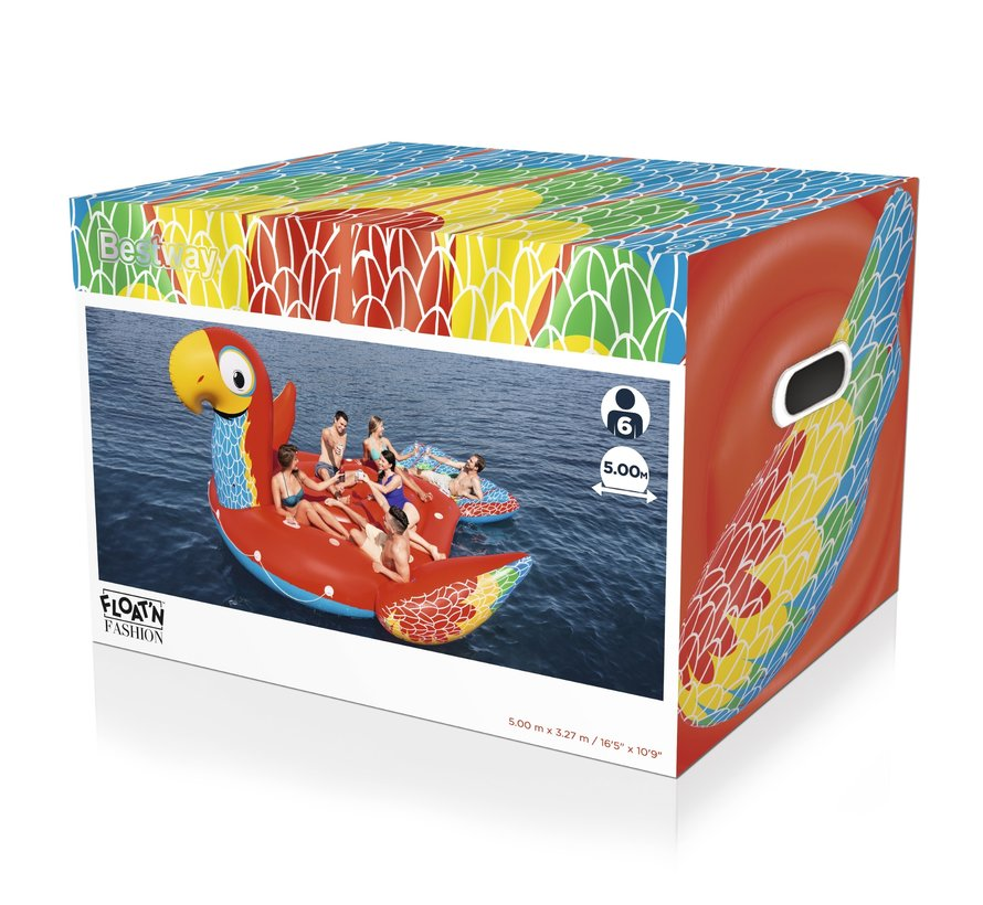 Floatin' Fashion - opblaasbare SUPERSIZED Papegaai XXL 475x388cm