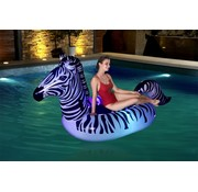 Bestway Floatin' Fashion - Opblaasbare ride-on Zebra met LED verlichting