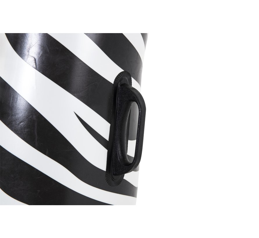 Floatin' Fashion - Opblaasbare jumbo ride-on Zebra met LED verlichting