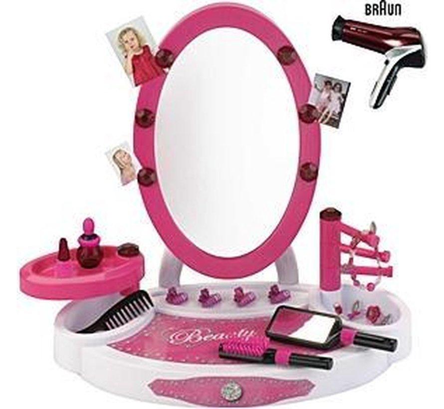 Braun Beauty salon met haardroger en accessoires