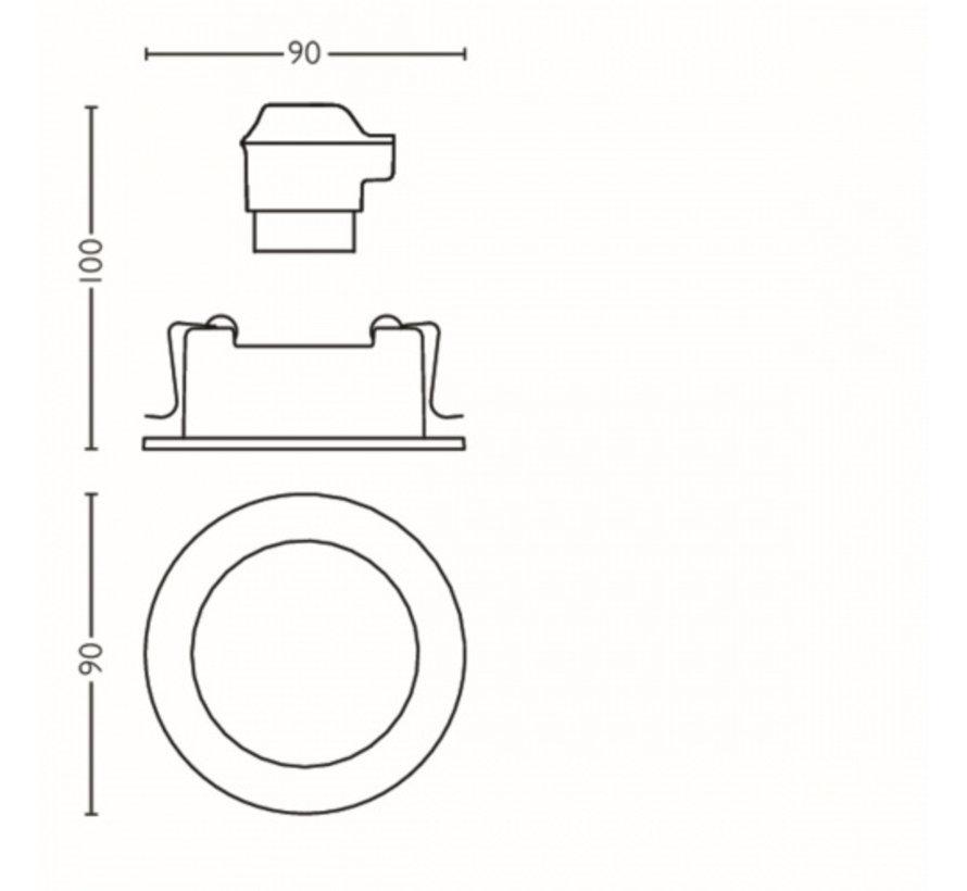 MyLiving Shellbark Inbouwspot Koper 4,5W (set van 3)