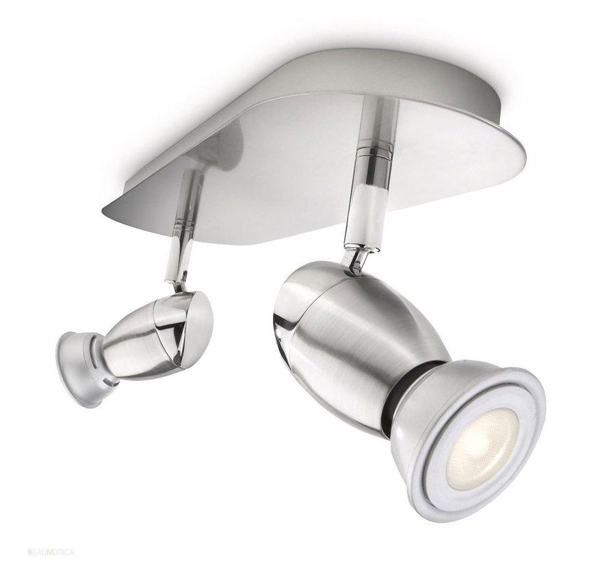 MyLiving Chestnut plafondlamp mat chroom 5,5W  (2-spots)