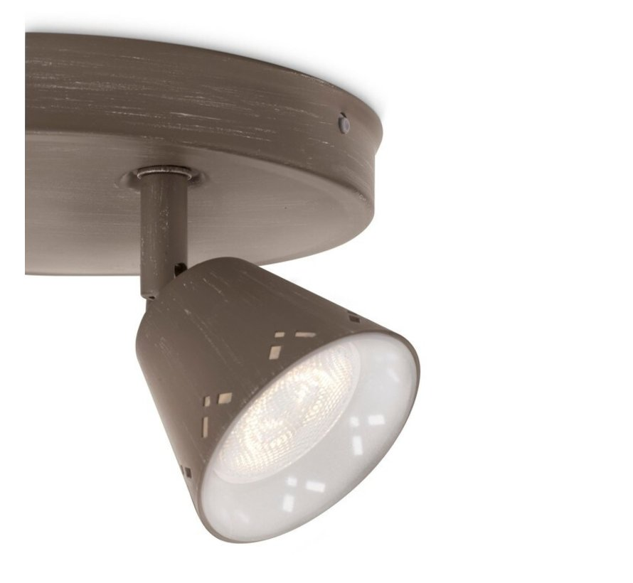 MyLiving Idyllic plafondlamp LED 3W grijs/bruin  (3-spots)