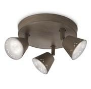 Philips MyLiving Idyllic plafondlamp LED 3W grijs/bruin  (3-spots)