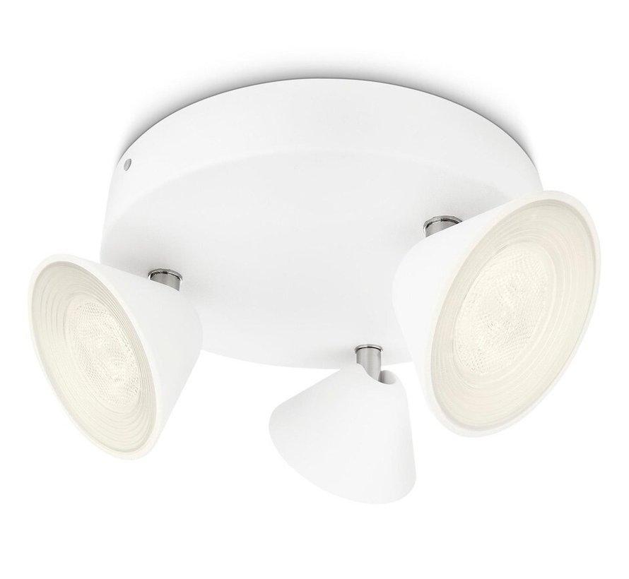 MyLiving Tweed - 3-Spots LED plafondlamp - 3 Watt - wit