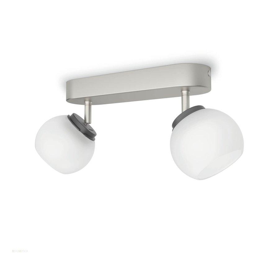 MyLiving LED Balla plafondlamp mat chroom 4W  (2-spots)