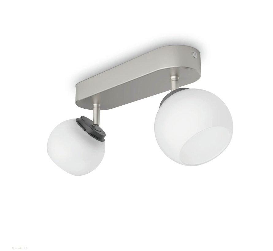 MyLiving Balla plafondlamp mat chroom 4W  (2-spots)