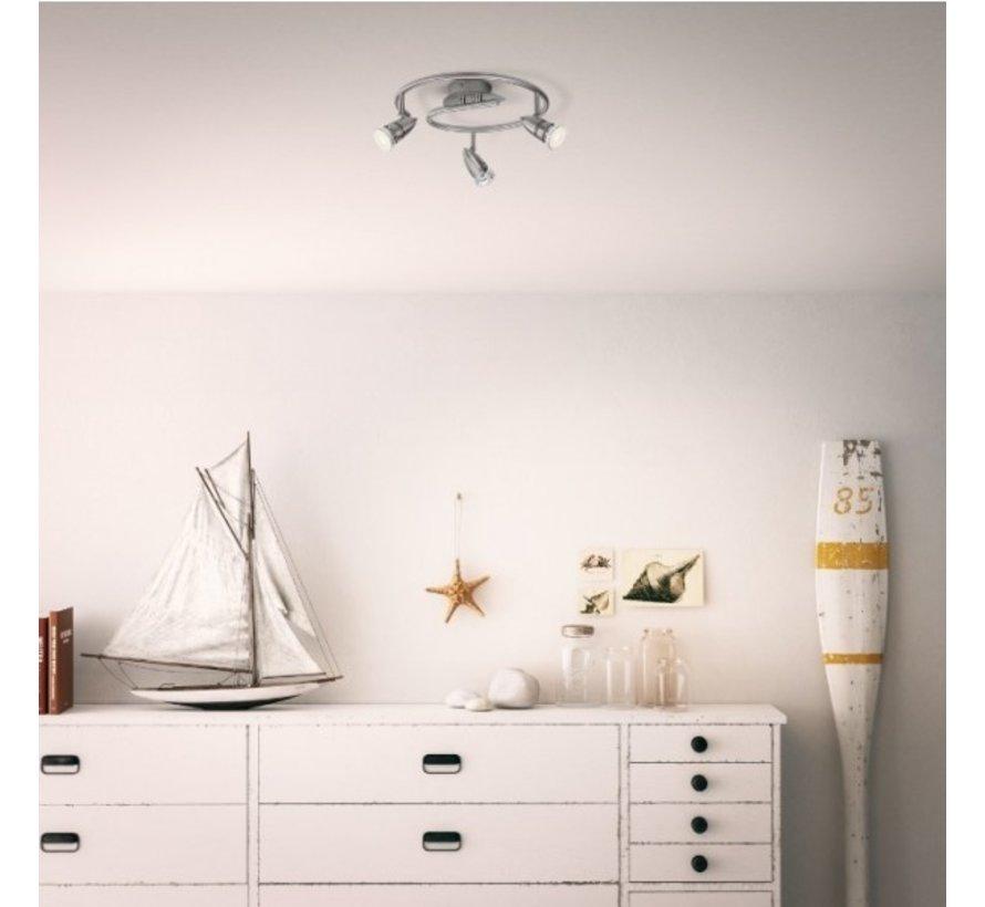 MyLiving Comet plafondlamp mat chroom 3,5W (3-spots)