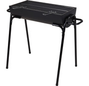 BBQ Equipment Cilinder barbecue - half open  - zwart - 88,5 x 50 x 72cm