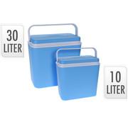 Excellent Cool Solutions 2-Delige koelbox set - blauw - 30 Liter en 10 Liter