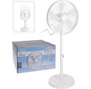 Excellent Electrics Staande ventilator - wit - 3 snelheden - Ø40cm - 50 Watt - verstelbaar in hoogte 90-125cm