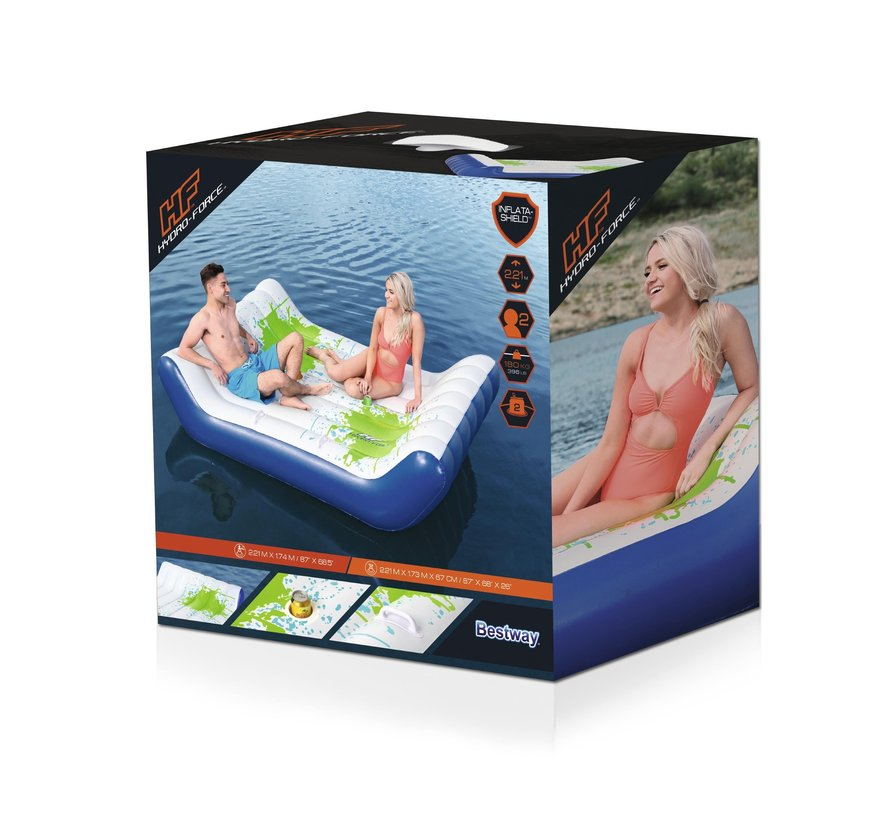Hydro-Force Loungebed - Chill Splash Lounge - 221x173x67cm