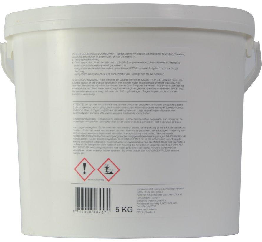 Mini chloortabletten 20gr / 5kg emmer