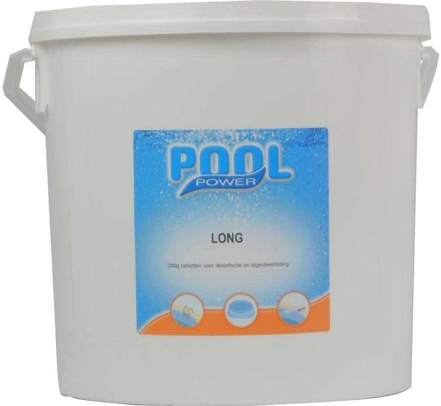 Pool Power Long chloortabletten 200gr / 10kg emmer